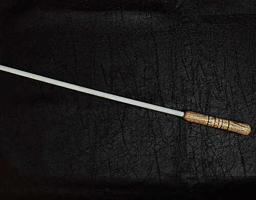 3/8 inch delrin cane with black walnut handle