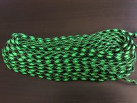 green and black paracord