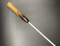 """1/4"""" white delrin cane with ebony handle"""